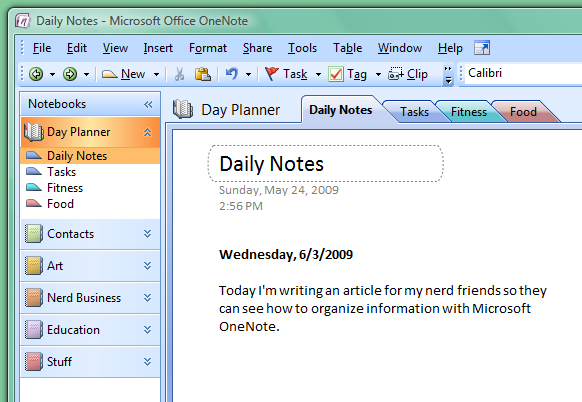 How to Organize Your Life with OneNote – Microsoft Daily Planner