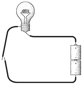 open circuit learn programming using wire, light bulbs, a battery, and Telegraph System Diagram at bakdesigns.co