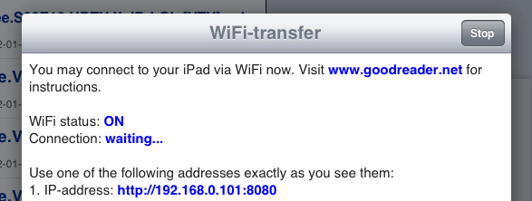 iPad WiFi-transfer for movies