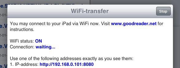 iPad WiFi-transfer for movies