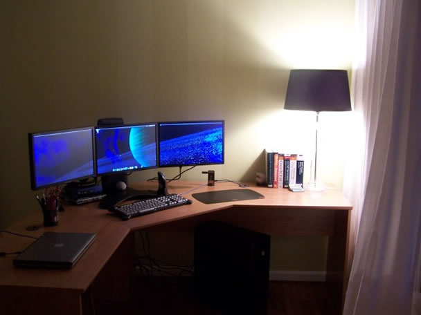 top 96 kick ass home office setups. Black Bedroom Furniture Sets. Home Design Ideas