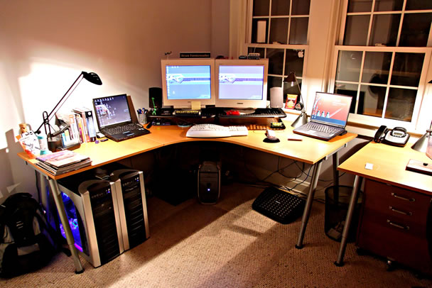 Top 96 kick ass home office setups - Small office setup ideas ...