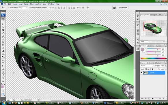 Porsche GT2 in Photoshop