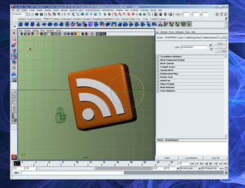 3D RSS logo