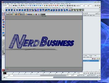 Nerd Business text